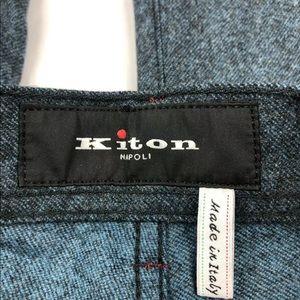 Kiton Pants - Kiton Wool Midnight Blue Pant 34x34 NWT